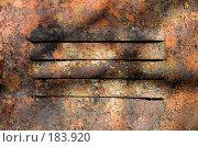 Купить «Старая металлическая поверхность двери с щелями», фото № 183920, снято 22 марта 2007 г. (c) chaoss / Фотобанк Лори
