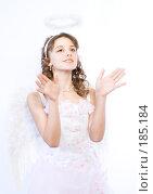Купить «Девочка в костюме ангела», фото № 185184, снято 13 января 2008 г. (c) Евгений Батраков / Фотобанк Лори