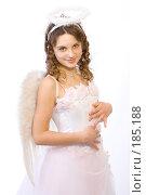 Купить «Девочка в костюме ангела», фото № 185188, снято 13 января 2008 г. (c) Евгений Батраков / Фотобанк Лори