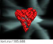 Купить «Сердце, складывающееся из маленьких сердец», иллюстрация № 185688 (c) Дмитрий Глебов / Фотобанк Лори