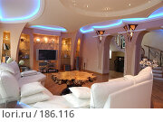 Купить «Гостиная в коттедже. Интерьер», фото № 186116, снято 19 апреля 2005 г. (c) Иван Сазыкин / Фотобанк Лори
