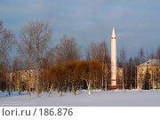 Купить «Вид на городской парк г. Плесецк», фото № 186876, снято 20 сентября 2018 г. (c) Крупнов Денис / Фотобанк Лори