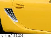Купить «Новый спортивный автомобиль желтого цвета», фото № 188208, снято 8 сентября 2007 г. (c) Александр Паррус / Фотобанк Лори