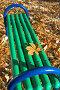 Зеленая скамья в парке, фото № 189288, снято 31 октября 2006 г. (c) Бабенко Денис Юрьевич / Фотобанк Лори