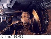 Купить «Угольный комбайн в шахте», фото № 192636, снято 15 августа 2018 г. (c) Михаил Сунгуров / Фотобанк Лори