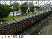 Поезд уголь перрон. Стоковое фото, фотограф Беликов Вадим / Фотобанк Лори