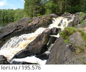 Северный водопад. Стоковое фото, фотограф Устинов Геннадий / Фотобанк Лори