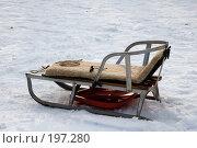 Купить «Детские санки на снегу», фото № 197280, снято 2 февраля 2008 г. (c) Елена Прокопова / Фотобанк Лори