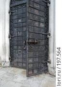 Купить «Дверь Никольского собора в Волоколамске», фото № 197564, снято 26 августа 2007 г. (c) Юрий Синицын / Фотобанк Лори