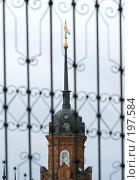 Купить «Фрагмент угловой башни Волоколамского кремля», фото № 197584, снято 26 августа 2007 г. (c) Юрий Синицын / Фотобанк Лори