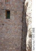 Купить «Деревянная лестница в монастыре Метеора», фото № 197988, снято 1 июля 2007 г. (c) Юлия Селезнева / Фотобанк Лори