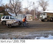 Купить «На велосипеде», фото № 200708, снято 12 февраля 2008 г. (c) Светлана Кириллова / Фотобанк Лори