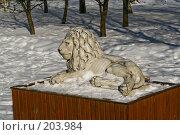 Купить «Парковая скульптура. Лев.», фото № 203984, снято 16 февраля 2008 г. (c) Николай Коржов / Фотобанк Лори