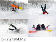 Купить «Падение сноубордиста», фото № 204612, снято 24 апреля 2019 г. (c) Александр Лядов / Фотобанк Лори