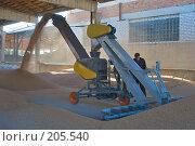 Купить «Зернопогрузчик на току. Сушка зерна.», фото № 205540, снято 6 сентября 2004 г. (c) Иван Сазыкин / Фотобанк Лори