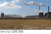 Купить «Выработка электроэнергии ТЭЦ», фото № 205560, снято 28 мая 2018 г. (c) Геннадий Соловьев / Фотобанк Лори
