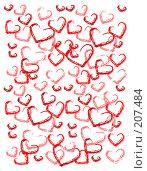 Купить «Абстрактный фон из сердечек», иллюстрация № 207484 (c) Валерия Потапова / Фотобанк Лори