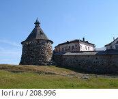 Башня Соловецкого монастыря (2005 год). Редакционное фото, фотограф Устинов Геннадий / Фотобанк Лори