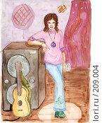Рок. Стоковая иллюстрация, иллюстратор Cавельева Елена / Фотобанк Лори