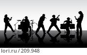 Купить «Рок-группа», иллюстрация № 209948 (c) Сергей Лаврентьев / Фотобанк Лори