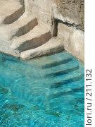 Купить «Каменные ступеньки и вода», фото № 211132, снято 11 августа 2007 г. (c) Елена Прокопова / Фотобанк Лори