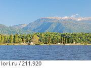 Купить «Вид на озеро Инкит, Абхазия», фото № 211920, снято 18 октября 2007 г. (c) Елена Падарян / Фотобанк Лори