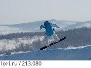 Купить «Прыжок сноубордиста», фото № 213080, снято 8 февраля 2008 г. (c) Талдыкин Юрий / Фотобанк Лори