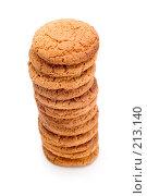 Купить «Овсяное печенье, макро», фото № 213140, снято 2 марта 2008 г. (c) Угоренков Александр / Фотобанк Лори