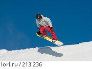 Купить «Прыжок сноубордиста», фото № 213236, снято 8 февраля 2008 г. (c) Талдыкин Юрий / Фотобанк Лори