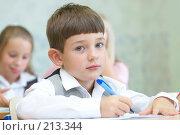 Купить «Дети в классе», фото № 213344, снято 19 августа 2007 г. (c) Ирина Мойсеева / Фотобанк Лори