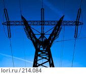Купить «Линия электропередач», фото № 214084, снято 20 октября 2018 г. (c) Ольга С. / Фотобанк Лори