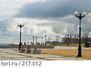 Купить «Набережная и тучи», фото № 217012, снято 26 февраля 2008 г. (c) Федор Королевский / Фотобанк Лори
