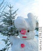 Купить «Снеговик», фото № 218232, снято 25 мая 2019 г. (c) ElenArt / Фотобанк Лори