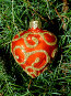 Новогодняя игрушка в форме сердце, фото № 218388, снято 22 июля 2017 г. (c) ElenArt / Фотобанк Лори