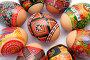 Пасхальные яйца, крупный план, фото № 223344, снято 13 марта 2008 г. (c) Pshenichka / Фотобанк Лори
