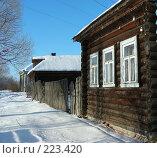 Купить «Деревня зимой, Владимирская область», эксклюзивное фото № 223420, снято 7 января 2008 г. (c) lana1501 / Фотобанк Лори