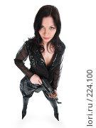 Купить «Вооруженная девушка», фото № 224100, снято 25 февраля 2008 г. (c) hunta / Фотобанк Лори
