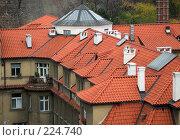 Купить «Крыши Праги», фото № 224740, снято 27 октября 2006 г. (c) Владимир Воякин / Фотобанк Лори