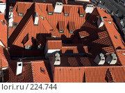 Купить «Черепичные крыши Праги», фото № 224744, снято 25 октября 2006 г. (c) Владимир Воякин / Фотобанк Лори