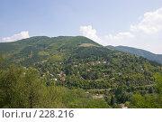 Купить «Селение в горной долине», фото № 228216, снято 19 августа 2007 г. (c) Harry / Фотобанк Лори
