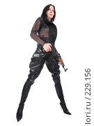 Купить «Вооруженная девушка», фото № 229156, снято 25 февраля 2008 г. (c) hunta / Фотобанк Лори