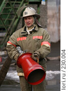 Купить «Портрет пожарного», фото № 230004, снято 20 марта 2008 г. (c) Евгений Батраков / Фотобанк Лори