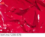 Купить «Красная краска, макро», фото № 230576, снято 22 марта 2008 г. (c) Семенюк Виталий / Фотобанк Лори