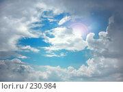Купить «Солнце выглядывает из-за тучи», фото № 230984, снято 30 июня 2007 г. (c) Валерия Потапова / Фотобанк Лори