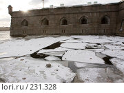 Купить «Санкт-Петербург, Петропавловская крепость,  наводнение», фото № 231328, снято 3 февраля 2008 г. (c) Андрюхина Анастасия / Фотобанк Лори
