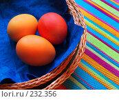 Купить «Открытка к празднику Пасхи. Пасхальные яйца», фото № 232356, снято 25 января 2007 г. (c) only / Фотобанк Лори
