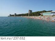 Купить «Пицунда. Вид на курорт со стороны моря. Абхазия.», фото № 237032, снято 27 августа 2006 г. (c) Виктор Филиппович Погонцев / Фотобанк Лори