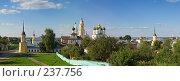 Купить «Панорама Ново-Голутвина монастыря, город Коломна Московской области», фото № 237756, снято 6 августа 2005 г. (c) Давид Мзареулян / Фотобанк Лори