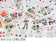 Купить «Рассыпанная колода антифашистских карт», эксклюзивное фото № 240256, снято 1 апреля 2008 г. (c) Александр Щепин / Фотобанк Лори