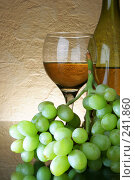 Купить «Вино и виноград», фото № 241860, снято 22 января 2018 г. (c) Роман Сигаев / Фотобанк Лори
